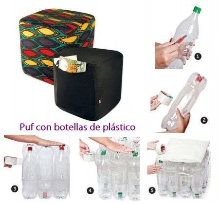 puf botellas